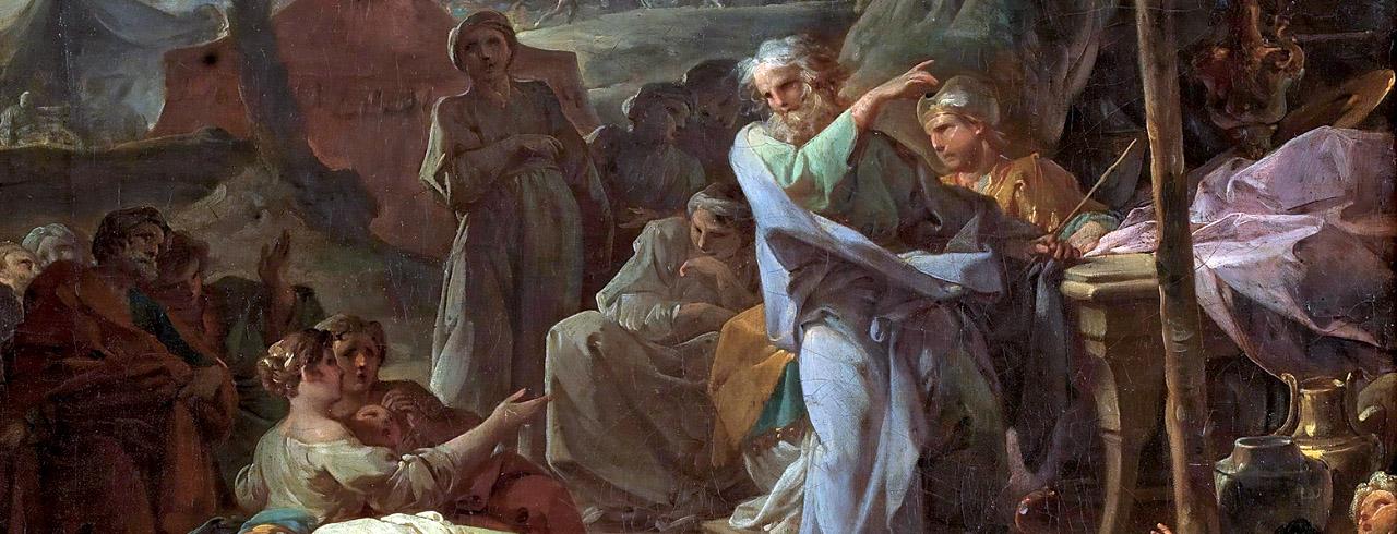 Moisés y la zarza ardiente, 1476