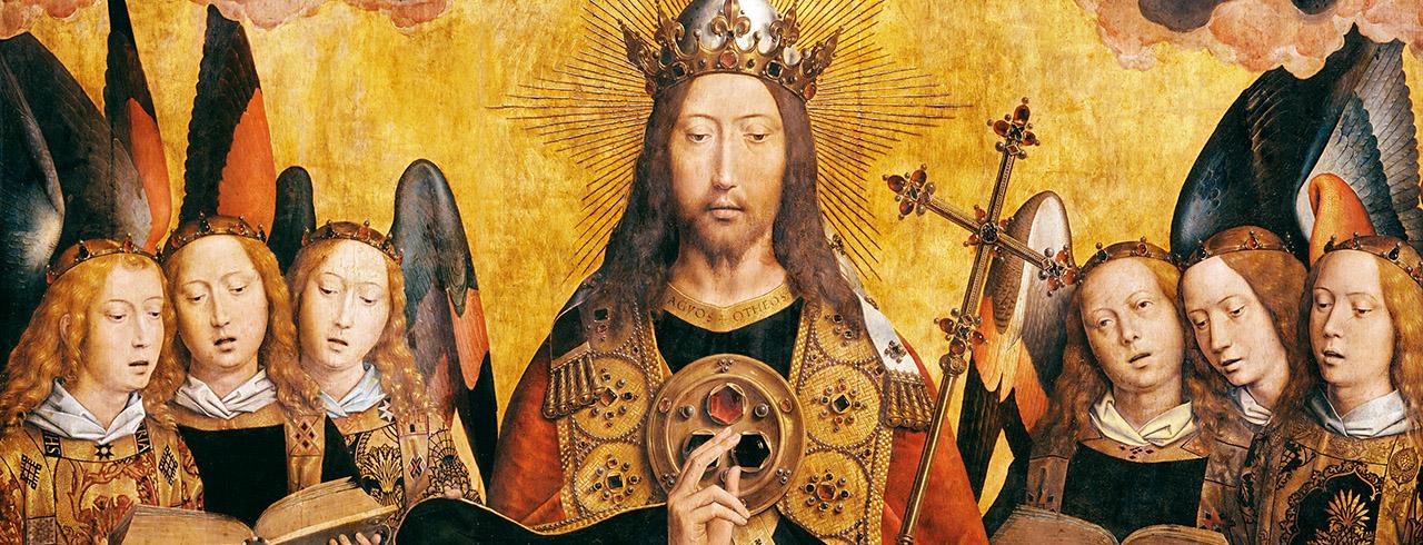 Cristo con ángeles cantores y músicos, 1483-1494
